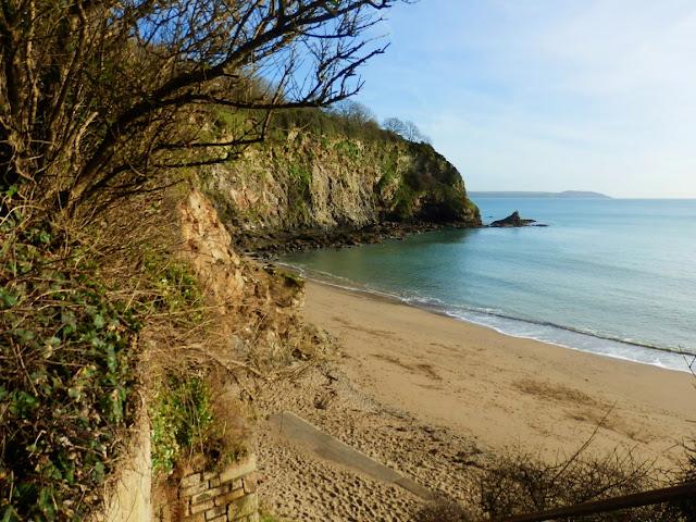 Porthpean Beach, looking down from cliffs