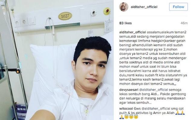 Idap Penyakit Kanker, Aldi Taher Minta Doa Netizen Untuk Kesembuhannya
