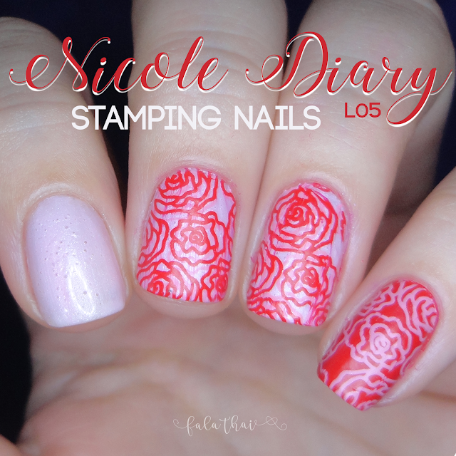 nicole diary L05 stamping nails