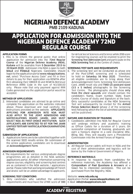 NDA 73rd RC Application Form Guidelines 2021/2022 [Disclaimer]