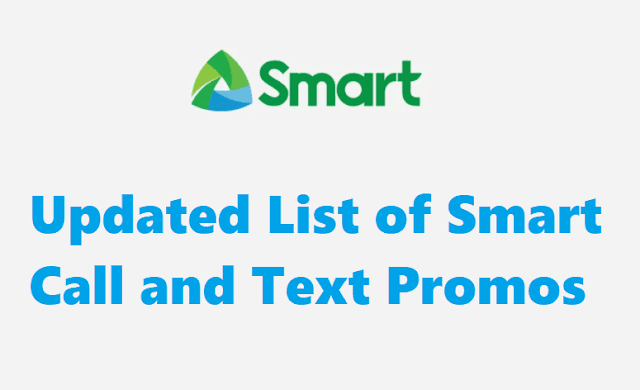 List of Smart Call and Text Promos
