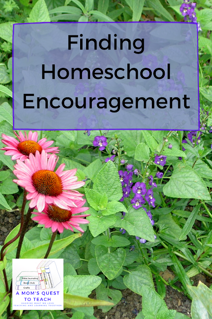 A Mom's Quest to Teach: Finding Homeschool Encouragement - Looking to Psalm 121 with floral background