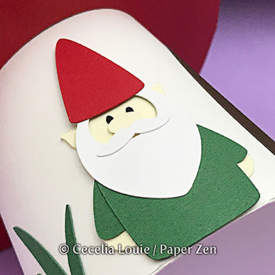Paper Mushroom Gift Box SVG File for Cricut Explore Silhouette - Gnome