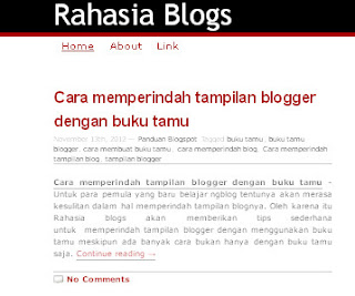 Rahasia Blog Panduan Blogspot Wordpress