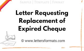 sample letter for reissue of expired cheque