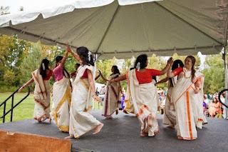 Dancing Thiruvathira