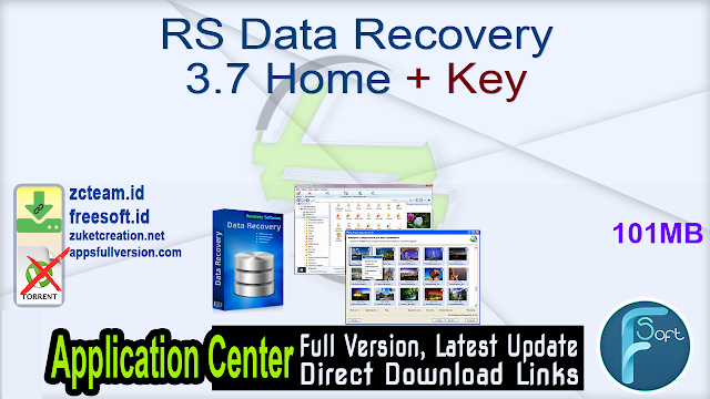 RS Data Recovery 3.7 Home + Key_ ZcTeam.id
