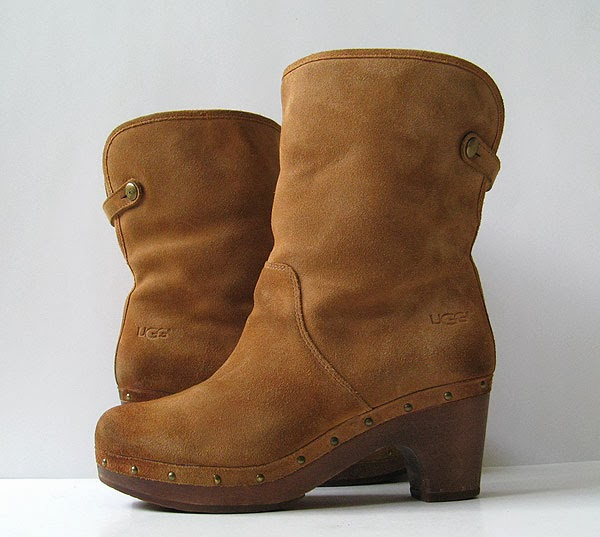 3151546034a UGG BOOTS UGG LYNEA BROWN LEATHER ANKLE BOOTS WOMENS SIZE 8