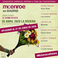 Nueva fecha Concierto de McEnroe y El verbo odiado en La Riviera