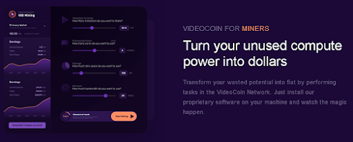 Videocoin Network is a bandwidth selling storage project