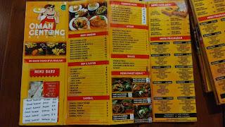 menu omah gentong