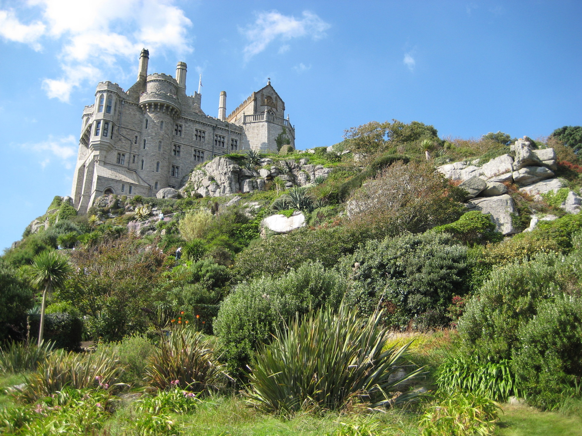 close up of st michaels mountain in penzance
