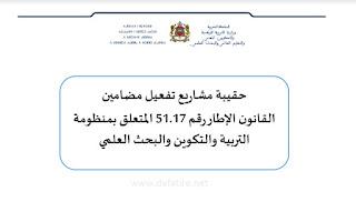 حقيبة مشاريع تفعيل مضامين القانون الإطار رقم 17-51 -فبراير 2020