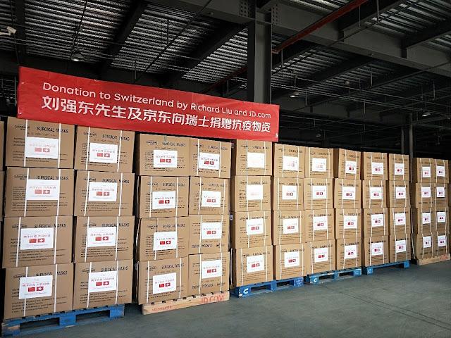 Chairman Richard Liu and JD.com Donate to Switzerland