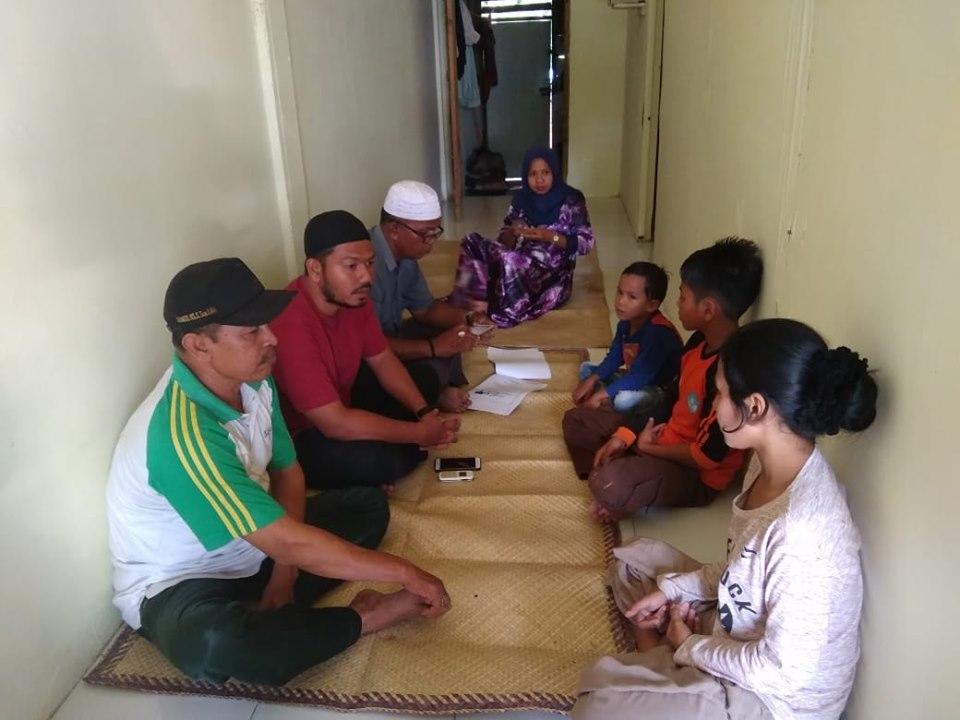 Lembaga Peduli Dhuafa (LPD) Aceh Timur bersama LAF, Kunjungi 4 Anak yatim yang ditinggal Ibunya