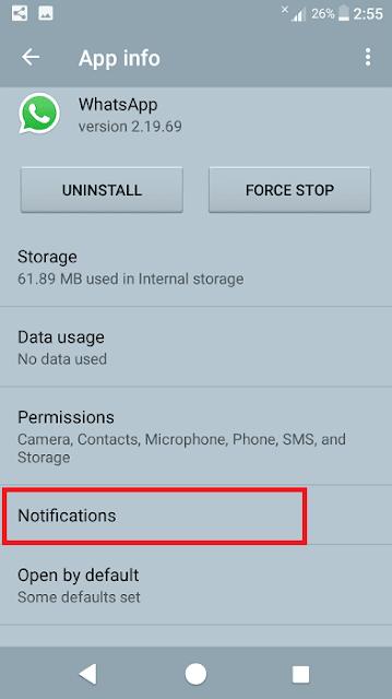 تعطيل إشعارات تطبيقات الدردشة والتواصل على هاتف الأندرويد