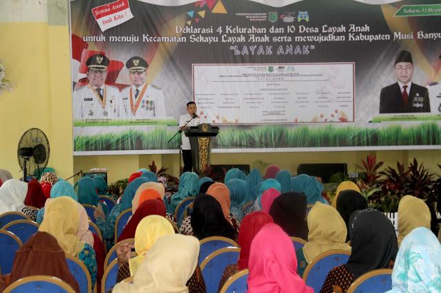 Kecamatan Sekayu Pertama Kali Deklarasi Layak Anak di Muba