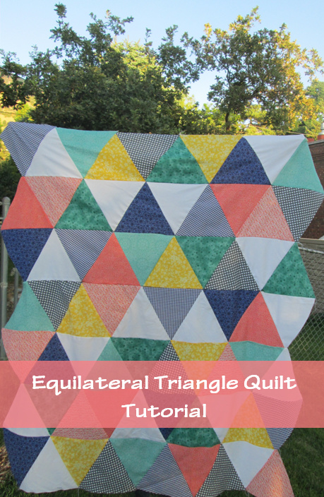 Quackadoodle Quilt Equilateral Triangle Quilt Tutorial