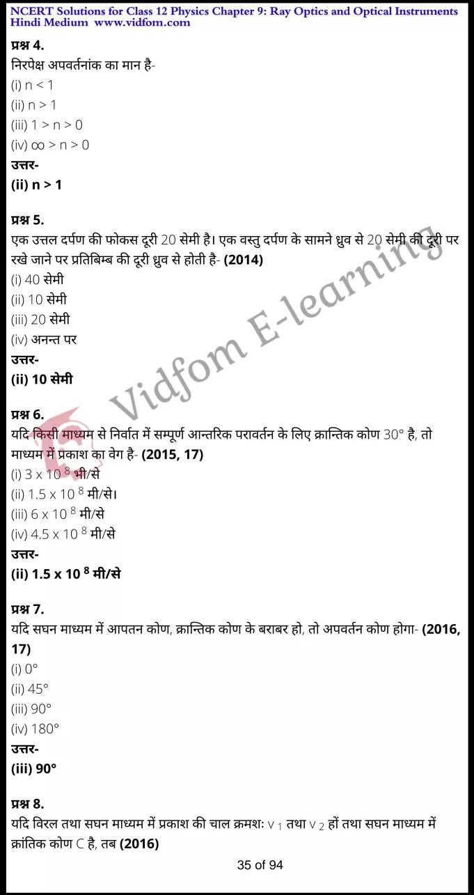 class 12 physics chapter 9 light hindi medium 35
