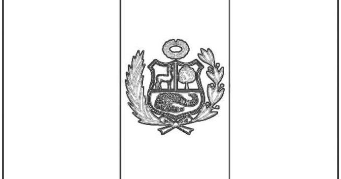 Dibujos De La Bandera Del Perú Para Colorear
