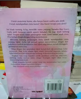 Bagian belakang buku disebut blurb