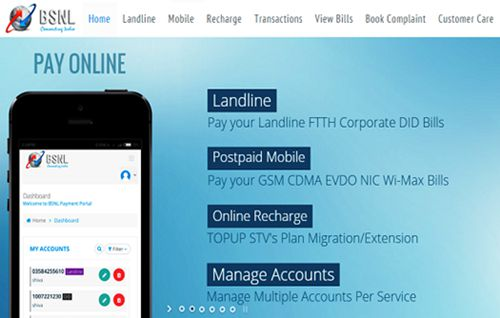 Discount on BSNL bill payment and recharges