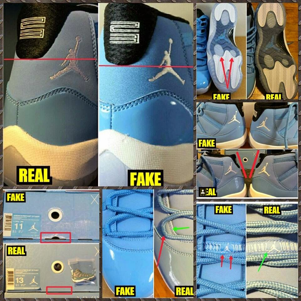buy popular 70bd9 6f031 COP ME Shoe Reviews: Fake VS. Real Jordan 11 Pantone comparison