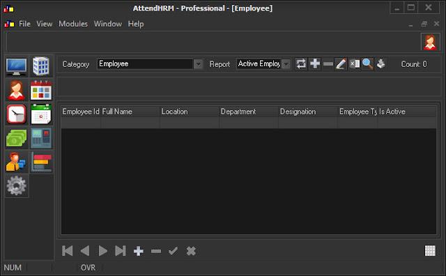 Screenshot AttendHRM Professional 6.2.0 Full Version