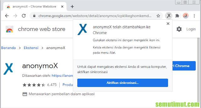cara menambahkan anonymox di google chrome