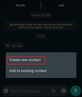create new contact