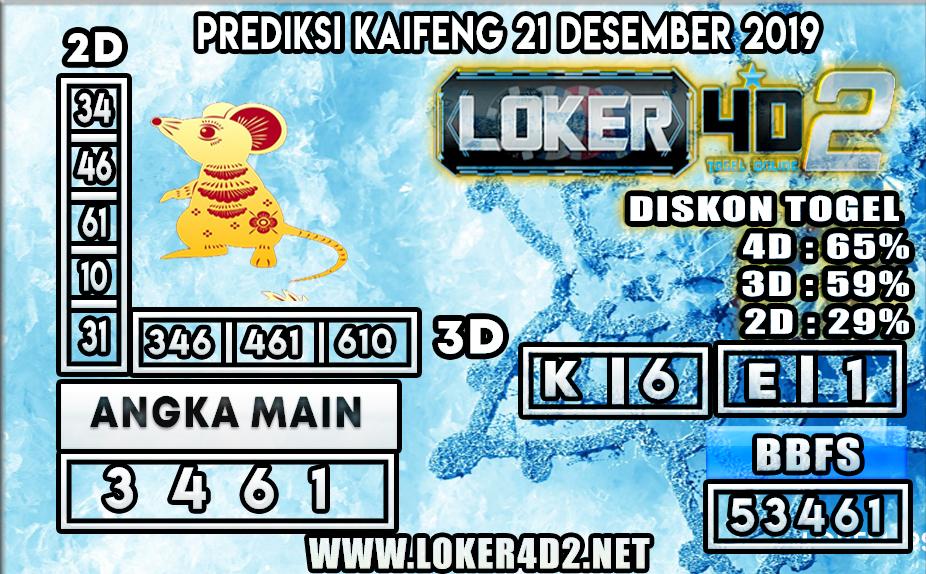 PREDIKSI TOGEL KAIFENG LOKER4D2 21 DESEMBER 2019
