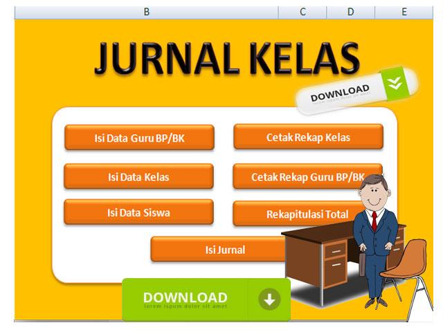 Aplikasi Jurnal Kelas Versi 2 Format Excel Lengkap dengan Panduannya