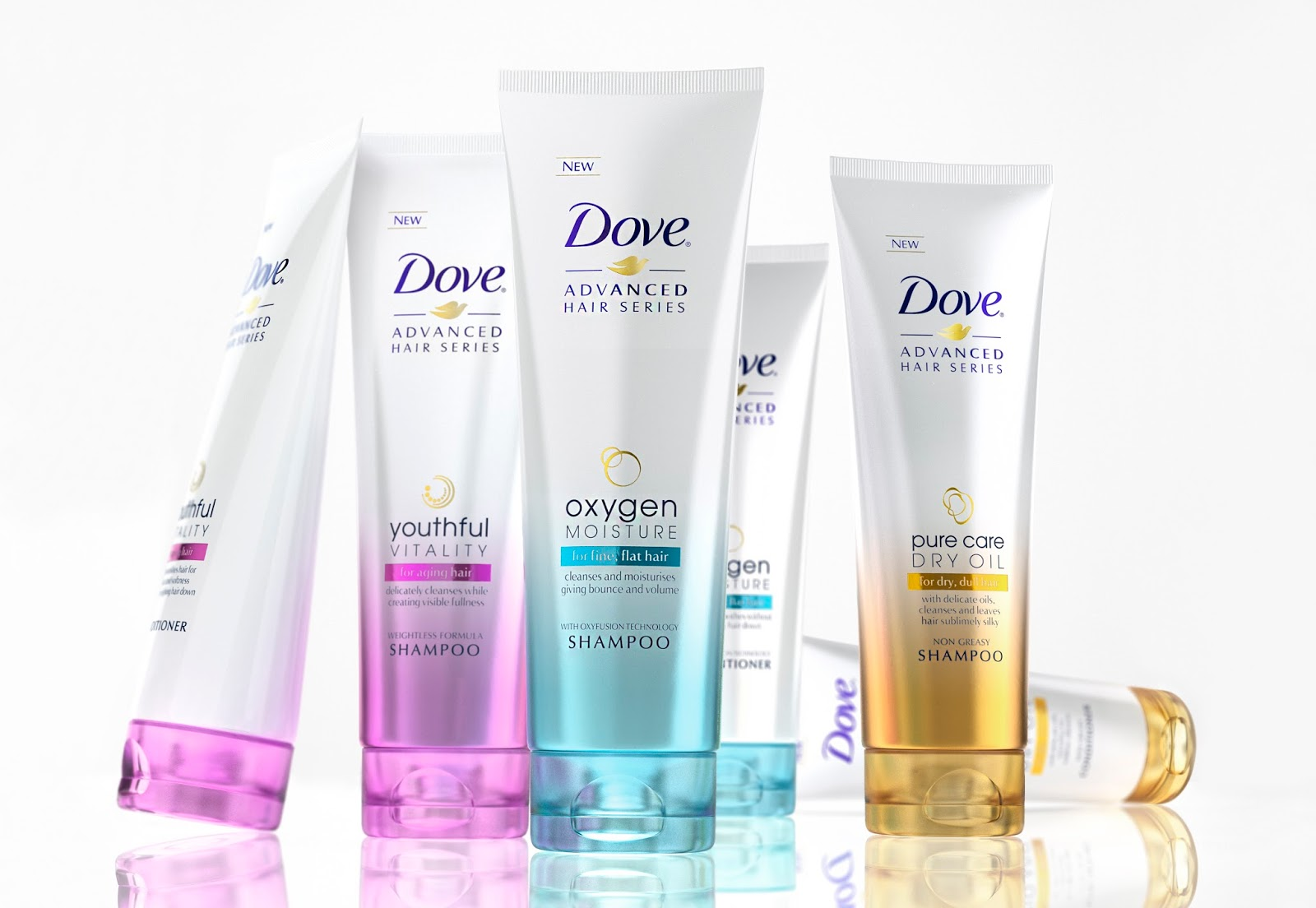 New Dove Advanced Hair Series On Packaging Of The World