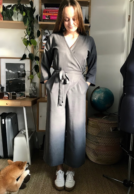 Diary of a Chain Stitcher: Paper Theory Zadie Jumpsuit in Tencel Twill from Patterns and Plains