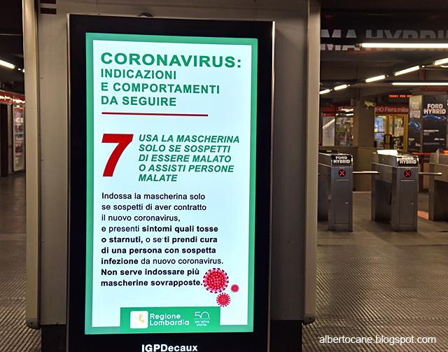 Milano ai tempi del coronavirus, san babila