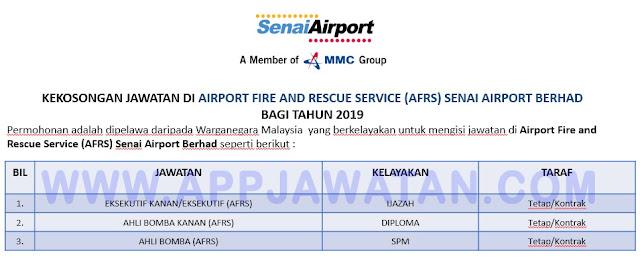 Airport Fire and Rescue Service (AFRS) Senai Airport Berhad