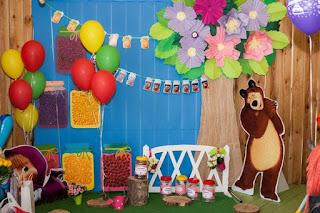 Fiestas Infantiles Decoradas con Masha y el Oso