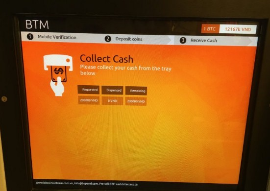 Bitcoin ATM Present In Country Vietnam