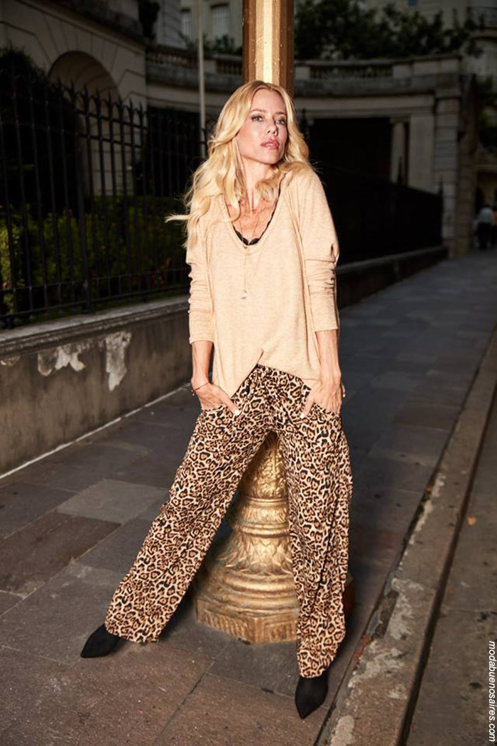 Moda invierno 2019 animal print leopardo.