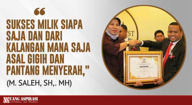Belajar Kepada M Saleh, Pria Asal Situbondo Peraih Penghargaan Indonesia Best 50 Lawyer Award 2019