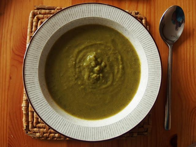 A bowl of super homemade pea soup