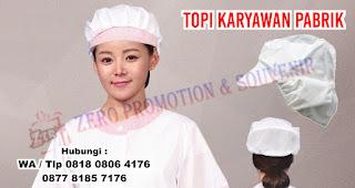 Produksi Topi Karyawan Pabrik / Pet Sanggul / Topi Produksi