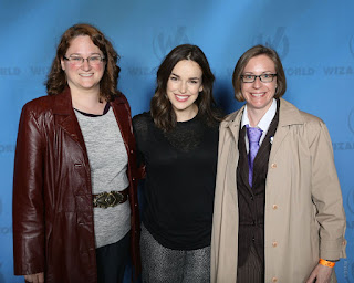 Photo of me, Elizabeth Henstridge, and Amanda, from the Wizard World St. Louis photo op