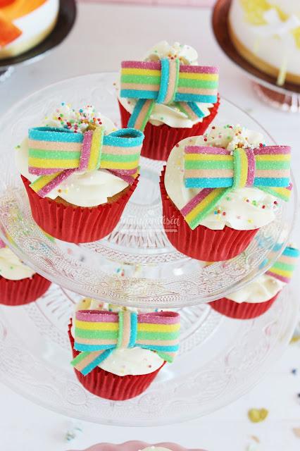 Cupcakes de crema de mantequilla menos dulce