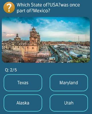 Which State of USA was once part of Mexico?