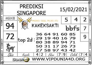 Prediksi Togel SINGAPORE DUNIA4D 15 FEBRUARI 2021