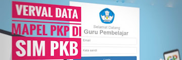 Cara Verval Data Mapel PKP di Sim PKB Periode 2019