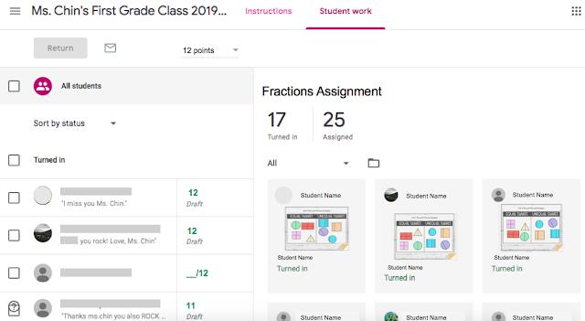 viewing student progress in google classroom