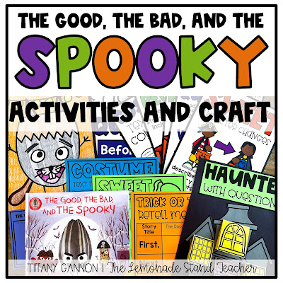 Halloween read aloud activities, craft, anchor charts, and directed drawing for The Good, the Bad, and the Spooky.