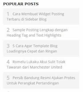 Simple Popular Posts Widget